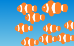 魚群のイラスト
